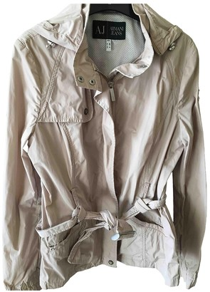 Armani Jeans Beige Trench Coat for Women