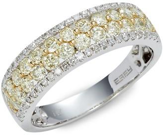 Effy 14K White Yellow Gold 1.00 TCW Diamond Band Ring