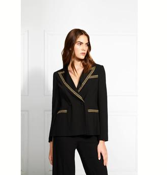 Rachel Zoe Ascot Gold Embroidered Blazer