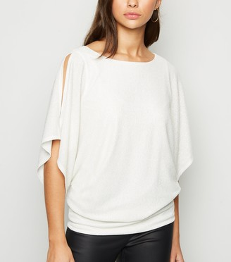 New Look Shimmer Batwing Sleeve Top