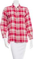 Current/Elliott Plaid Button Up Shirt