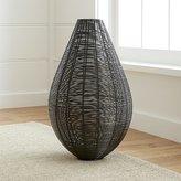 Crate & Barrel Myron Metal Floor Vase