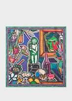 Men's Large 'Artist Studio' Print Cotton Pocket Square