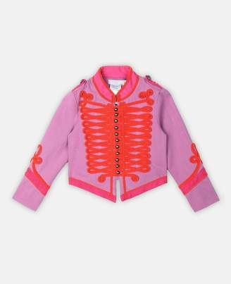 Stella McCartney Kids military cotton jacket all together now
