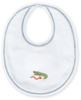 Kissy Kissy Jungle Rumble Reversible Bib, White/Navy