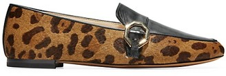 Cole Haan Teresa Animal-Print Calf Hair Leather Loafers