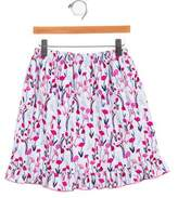 Oscar de la Renta Girls' Corduroy Printed Skirt