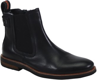 Testosterone Shoes Men's Side Zip Leather Boots- Arch Way II