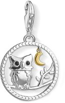 "Thomas Sabo Unisex ""Night Owl"" 925 Sterling Silver Gold Plated Yellow Gold Cold Enamel Charm Pendant 1392-427-11"