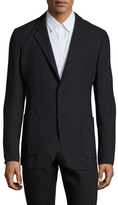 Prada Wool Solid Notch Lapel Blazer