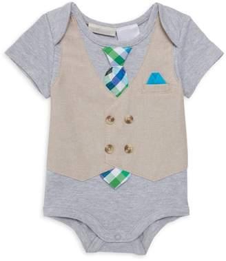 Miniclasix Baby Boy's Tie & Vest Bodysuit