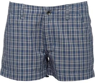 Converse Womens Checked Cargo Shorts Dark Denim Multi