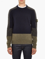 Stone Island Brushed Wool Panel Pullover