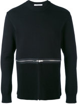 Givenchy zip detail sweatshirt - men - Cotton - S