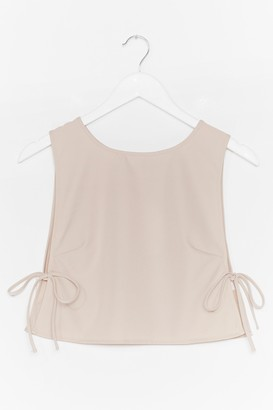Nasty Gal Womens Tie and Find Out Vest Crop Top - Stone