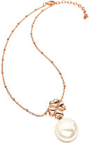 Folli Follie Pearl Muse drop rose gold-plated necklace