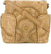 Jamin Puech leather-appliquéd shoulder bag