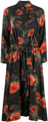 Henrik Vibskov Abstract-Print Midi Shirt Dress