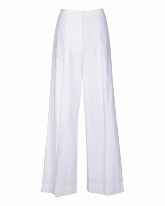 7 For All Mankind High Waist Super Flare Trouser in Optic White