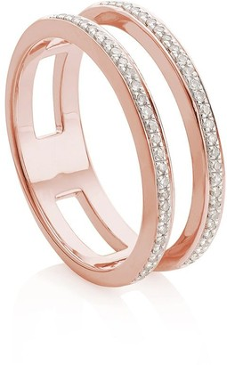 Monica Vinader Skinny Double Band Diamond ring