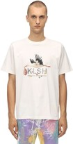 Klsh Kids Love Stain Hands PRINTED COTTON JERSEY T-SHIRT