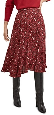 Gerard Darel Maria Animal Spot Midi Skirt