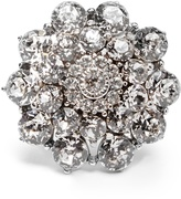 Oscar de la Renta Crystal-encrusted ring