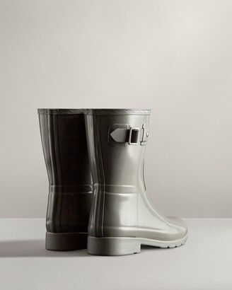 Hunter Women's Refined Slim Fit Short Gloss Rain Boots