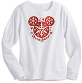 Disney Mickey Mouse Snowflake Holiday Pullover for Women