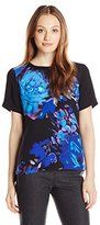 Adrianna Papell Women's Placement Print Tee
