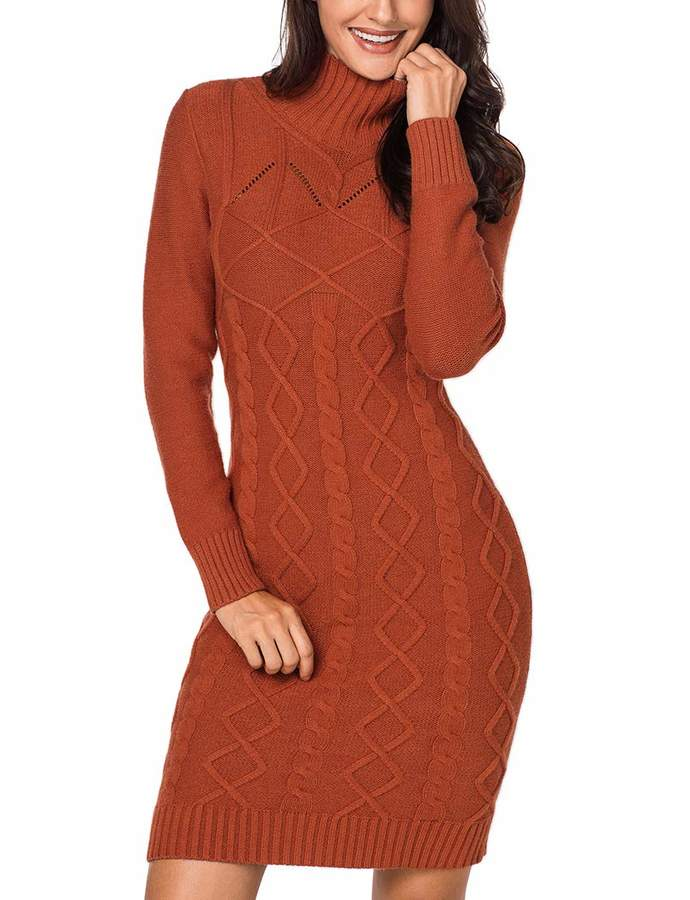 8e878690a02 Cable Knit Sweater Dress - ShopStyle Canada