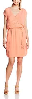 Esprit Women's fließend Knee-Length Wrap Short Sleeve Dress,L (Manufacturer size: 44)