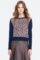 Diane von Furstenberg Orla Silk and Merino Sweater