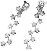 Chanel 18K White Gold Diamond Comete Earrings