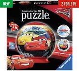Ravensburger Disney Cars 3 3D Puzzleball - 72 Piece