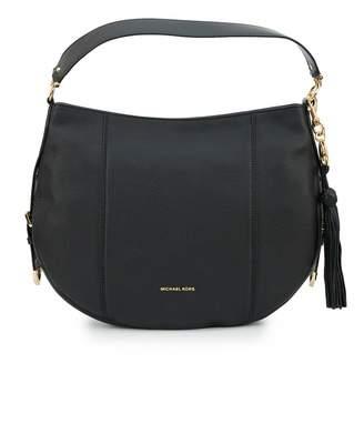 Michael Kors Brooke Soft Leather Tassle Detail Hobo Colour: BLACK, Siz