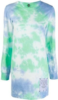 Mcq Swallow Genesis tie-dye T-shirt dress