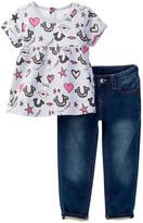 True Religion Lips & Stars Set (Toddler Girls)