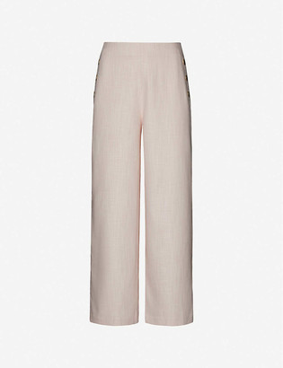 Ted Baker Checked wide high-rise woven culottes