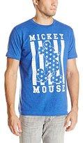 Disney Men's Mickey Mouse Mesh Printed Tshirt