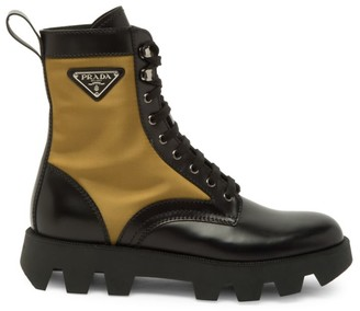 Prada Brushed Nylon Combat Boots