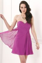 Faviana Strapless Sweetheart Chiffon Short Cocktail Dress 7075a