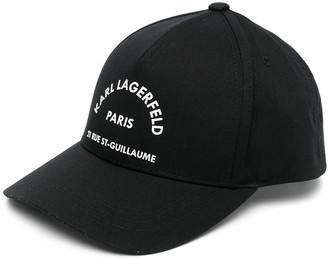 Karl Lagerfeld Paris Embroidered-Logo Cap