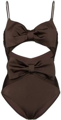 Zimmermann bow detail swimsuit