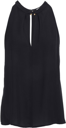 A.L.C. Barbell-embellished Silk Crepe De Chine Top
