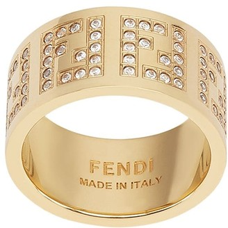 Fendi Crystal Monogram Ring