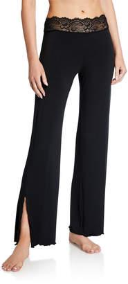 Samantha Chang Lace-Trim Lounge Pants