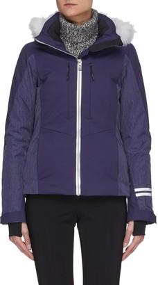 Rossignol Contrast Panel Fur Trim Hood Ski Jacket