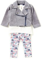Starting Out Baby Girls 3-24 Months Long-Sleeve Top, Jacket, & Floral Leggings 3-Piece Set