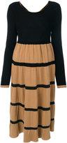 Twin-Set knitted line dress - women - Polyamide/Viscose/Wool/Alpaca - M